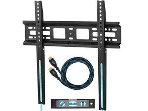 TV Wall Mount Bracket for 2055 TVs Up to VESA 400 and 115 lbs Including a Twisted Veins 10 HDMI Cable and a 6 3Axis Magnetic Bubble Level