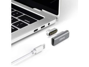 USB C Adapter 20Pins Type C Connector Support USB PD 100W Quick Charge 10Gbs Data Transfer and 4K60 Hz Video Output Compatible with MacBook ProAir and More Type C Devices Grey