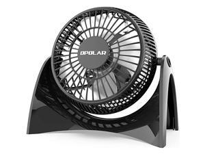 Super Quiet Desk USB Fan Maximal 40db Perfect Table Fan Small Size 2 Speeds 360° Rotating Free Adjustment Personal Fan for HomeOffice and DormWhite