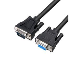 6ft RS232 Serial Cable Extension Male to Female 9 Pin Straight Through