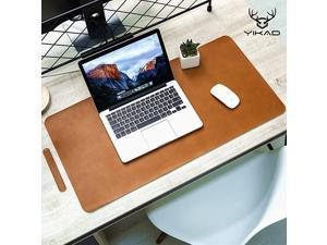 Extended Leather Gaming Mouse PadMat Large Office Writing Desk Computer Leather Mat MousepadWaterproofUltra Thin 12mm 315quotx157quot Brown