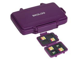 SD Card Holder Case Hunter  Weatherproof Micro SD Card Case Small Cute SD Card Storage Container Purple