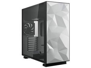 ATX Mid Tower Gaming Computer Case with Tempered Glass and Fans Up to 240mm AIO and 440mm VGA Support EATX Support Top Mount PSU amp HDDSSD White Prism SLITE