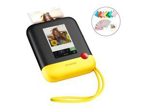 Polaroid Pop 20 2 in 1 Wireless Portable Instant 3x4 Photo Printer amp Digital 20MP Camera with Touchscreen Display Builtin WiFi 1080p HD Video Yellow Prints from Your Smartphone