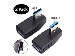 USB 30 Adapter 90 Degree Male to Female Coupler Connector Plug Left Angle and Right Angle by