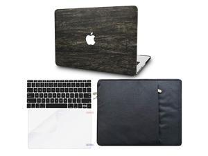 Laptop Case for MacBook Pro 13 20202019201820172016 Touch Bar wKeyboard Cover + Sleeve + Screen Protector 4 in 1 Bundle Italian Leather A2159A1989A1706A1708 Brown Wood Leather