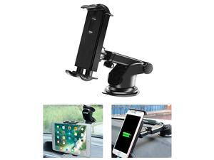 Tablet Mount Holder Universal Dashboard Windshield Tablet Stand Cell Phone Holder Dash Mount Suction Cup Mount Compatible with iPad ProAirMini iPhone Galaxy Tab All 47105 Devices