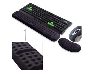 Upgraded Ergonomic Keyboard and Mouse Wrist Rest Support Cushion Pad Set Comfy Soft Memory Foam Gel Padding NonSlip PalmHandWrist Pain Relief Rest Pad for Office Work PC Gaming Laptop
