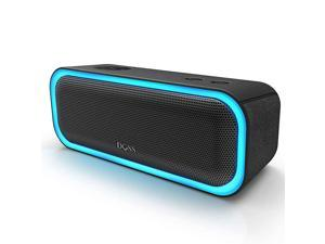Bluetooth Speakers  SoundBox Pro Portable Wireless Bluetooth Speaker with 20W Stereo Sound Active Extra Bass Wireless Stereo Pairing Multiple Colors Lights IPX5 20 Hrs Battery Life Black