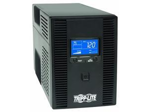 SMART1500LCDT 1500VA 900W UPS Battery Back Up, AVR, LCD Display, Line-Interactive, 10 Outlets, 120V, USB, Tel & Coax Protection, 3 Year Warranty & Dollar 250,000 Insurance Black