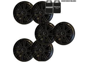 """Black OEM Replacement Marine 6.5"""" 4 Ohm Coaxial Speaker Bundle - 6 Speakers"""