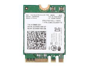 Dual Band WirelessAC 7260NGW WiFi Card for Lenovo Ideapad 100S 11E 11IBY B5030 B5030T B5070 E40C30 E40C70 Y40 Y50 Yoga 11e Yoga 2 13 Yoga 2 Pro 20200552 20200553 20200554