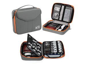 Electronic Organizer  Travel Organizer Bag Electronic Accessory Cases Cable Organizer Bag Double Layer for USB Cables Charger Power Bank Phone Ebook Kindle iPad or Tabletup to 97