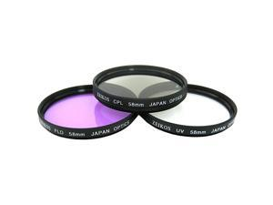 T3I Accessory Saver Kit 58mm Wide Angle Lens + 58mm 3 Piece Filter Kit + 8GB SDHC Memory + Accessory Saver Bundle