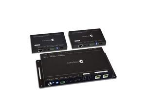 Prohecy 1x2 HDMI 20a Extender Splitter HDBaseT 4K 60Hz 444 HDBaseT Over Cat5e67 with 2 Loopouts Auto Downscaling 60m198ft 1080p 35m114ft UHD HDR 18Gbps PoC Dual IR RS232 3D