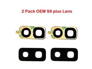 Pack OEM Samsung Back Rear Camera Glass Lens Replacement + Adhesive Preinstalled for Samsung Galaxy S9 Plus 965