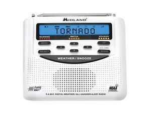 WR120 NOAA Emergency Weather Alert Radio SAME Localized Programming Trilingual Display 60+ Emergency Alerts Alarm Clock WR120C Clam Packaging