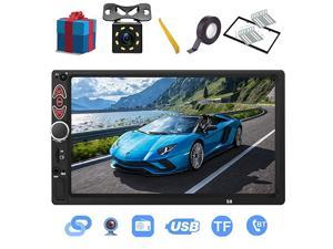 Din Car Stereo7 inch Touch ScreenCompatible with BT TF USB MP543 Player FM Car RadioSupport Backup Rear View Camera Mirror LinkCaller ID Upgrade The Latest Version