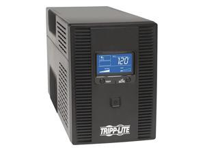 SMART1300LCDT 1300VA UPS Battery Backup, AVR, LCD Display, 8 Outlets, 120V, 720W, Tel & Coax Protection, USB, 3 Year Warranty & $250,000 Insurance Black