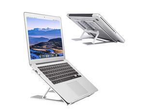 Laptop StandVentilated Portable Ergonomic Notebook Riser for DeskMultiAngle Portable AntiSlip Mount for MacBook Surface Laptop Notebook 1017 Tablet Silver