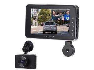 DashcamDash Cam Recorder Front and Rear Facing Cameras 3 Display for s and Trucks with Night Vision Support 128GB Memory d