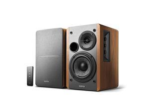 R1280T Powered Bookshelf Speakers 20 Stereo Active Near Field Monitors Studio Monitor Speaker Wooden Enclosure 42 Watts RMS