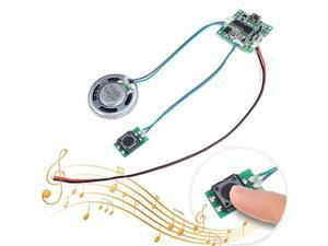 Recordable Sound Module Button Control 8M MP3 WAV Music Voice Player Programmable Board with Speaker for Mothers Day DIY Music Box Greeting Card Creative Gift