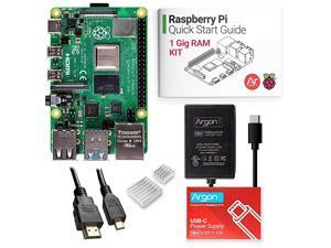 x Raspberry Pi 4 Kit 1 Gig   Barebones   Includes Micro HDMI to HDMI Cable TypeC Power Supply and Quick Start Guide for Raspberry Pi 4