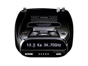 DFR7 Super Long Range Wide Band Laser/Radar Detector, Built-in GPS w/Mute Memory, Voice Alerts, Red Light & Speed Camera Alerts, OLED Display, Black