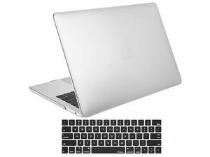 MacBook Pro 13 Case 2019 2018 2017 2016 Release A2159 A1989 A1706 A1708 Hard Case Shell Cover and Keyboard Skin Cover for MacBook Pro 13 Inch withWithout Touch Bar Silver