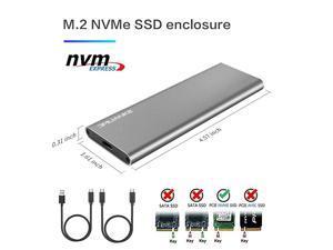 M2 NVME Enclosure M2 to USB 31 Gen 2 M2 2280 NVME Case for NVME SSD External M2 NVME Adapter Grey