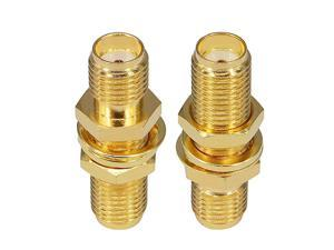 SMA Socket Connector SMA Female to Female Barrel Adapter SMA Panel Chassis Mount Connector SMA Female Bulkhead Connector Antenna Jack Adapter for Wireless LAN Device SMA Coax Cable Pack of 2