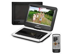Portable DVD Player with 101 inches LCD Screen Car Headrest Mount Holder Remote Control Travel DVD Player White