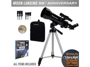 Travel Scope 70 Telescope Limited Edition Apollo 11 50th Anniversary Bundle with Commemorative Coin and Book