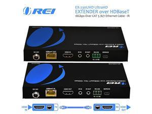EX230UHD UltraHD Extender over HDBaseT 18Gbps Over CAT 567 Ethernet Cable IR Signal 230 Ft 1080P 130 Ft 4K 60hz