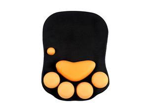 Mouse Pad with Wrist Support Soft Silicone Wrist Rests Wrist Cushion Computer Mouse Pad Mat Desk Decor (25x23 cat001)