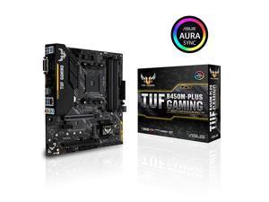 TUF B450MPlus Gaming AMD Ryzen 2 AM4 DDR4 HDMI DVID M2 mATX Motherboard