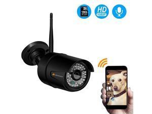 Wireless WiFi IP Security Camera Outdoor HD 1080P CCTV Home Surveillance Audio PreInstalled 16G MicroSD CardOnvif Motion DetectionNight Vision