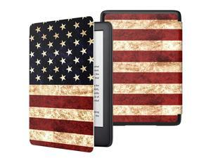 Case Fits AllNew Kindle 10th Generation 2019 Release Only Thinnest Protective Shell Cover with Auto WakeSleep Will Not Fit Kindle Paperwhite 10th Generation 2018 US Flag