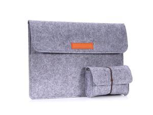 12 Inch Laptop Felt Sleeve Bag Protective Case Cover Fit Microsoft Surface Pro 7Pro 6Pro 5Pro 4Pro 3Pro LTE 123MacBook Air 116iPad Pro 129 Inch 2018 with Small Felt Bag Light GRAY