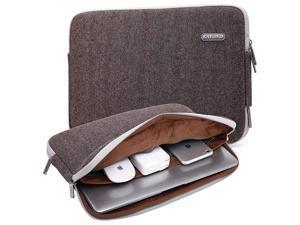 Herringbone Woollen Waterproof Fabric 15617 Inch Laptop Sleeve Case Compatible Old MacBook pro 17 Brown