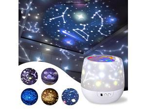 Star Night Light Universe Projector Lamp for Kids with 5 Sets of Projector Film