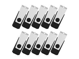 100PCS 4GB Flash Drive Bulk USB 2.0 Flash Drive Swivel Memory Stick Thumb Drives Pen Drive (4G, 100 Pack, Black)