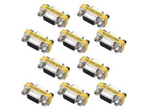 VGA Mini Gender Changer  10 Packs 15 Pin VGA SVGA Female to Female Coupler Adapter