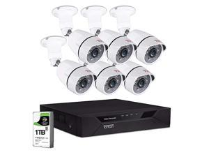 1080P Surveillance Camera System Outdoor8CH 1080P DVR with 1TB HDD and 6PCS FHD 2MP Bullet Security Camera100ft Night VisionFree App Remote Access and Motion Alert with Snapshot