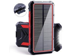 Solar Power Bank  20000mAh Portable Solar Charger with Dual USB 3A Output PortLED Light and External Battery Pack Solar Phone Charger Fast Charging for Smartphone and More