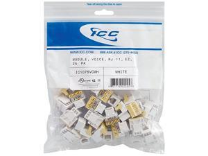IC1076VCWH 25PK Cat3 Jck 6Con White