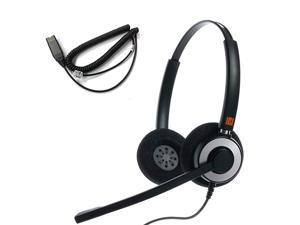 IPH165 Binaural Noise CancelingCorded Headset wit HIS02 Cable for Avaya IP 16081616 9610 9620 9620L 9620C 9630 9630G 9640 9640G 9650 9670 IP Phones