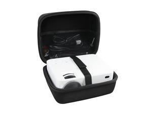 Hard Travel Case for TOPVISION Hompow DBPOWER Mini Projector JPJJ0723 T20 T21 1500 Lumens LCD Mini Projector Multimedia Home Theater Video Projector