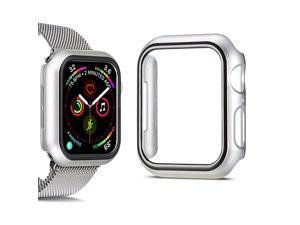 Compatible for Apple Watch Series 4 Series 5 Apple Watch Case for Apple Watch 44mm iWatch Case PC Protector Cover Replacement (Silver)